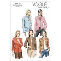 Vogue Ladies Easy Sewing Pattern 7975 Lined Fitted Jackets