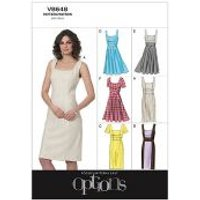Vogue Ladies Easy Sewing Pattern 8648 Lined Fitted Dresses