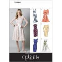 Vogue Ladies Easy Sewing Pattern 8766 Lined Close Fit Dresses