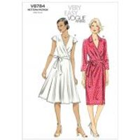 Vogue Ladies Easy Sewing Pattern 8784 Lined Wrap Dresses