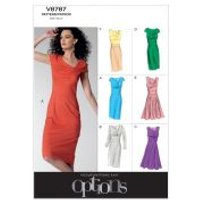 Vogue Ladies Easy Sewing Pattern 8787 Lined Dresses