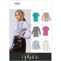 Vogue Ladies Easy Sewing Pattern 8857 Blouse & Tunic Tops