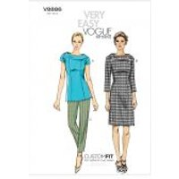Vogue Ladies Easy Sewing Pattern 8886 Top, Dress & Pants