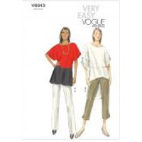 Vogue Ladies Easy Sewing Pattern 8913 Tunic Tops & Trouser Pants