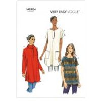 Vogue Ladies Easy Sewing Pattern 8924 Loose Fit Tunic Tops