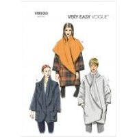 Vogue Ladies Easy Sewing Pattern 8930 Loose Fitting Wrap Jackets