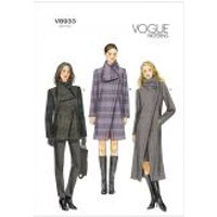 Vogue Ladies Easy Sewing Pattern 8933 Semi-Fitted Lined Coats