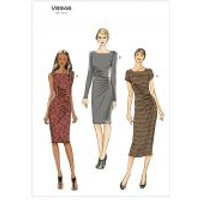 Vogue Ladies Easy Sewing Pattern 8946 Fitted Dresses with Pleats