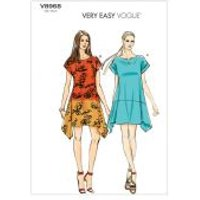 Vogue Ladies Easy Sewing Pattern 8968 Loose Fitting Dresses