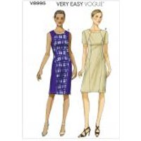 Vogue Ladies Easy Sewing Pattern 8995 Semi Fitted Panelled Dresses