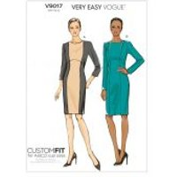 Vogue Ladies Easy Sewing Pattern 9017 Panelled Fitted Dresses