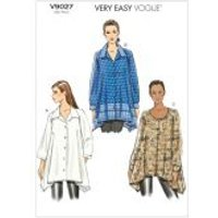 Vogue Ladies Easy Sewing Pattern 9027 Loose Fit Tunic Shirt Tops