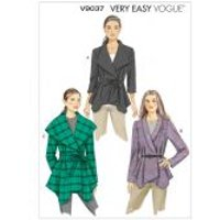 Vogue Ladies Easy Sewing Pattern 9037 Double Breasted Jacket & Belt