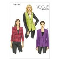 Vogue Ladies Easy Sewing Pattern 9039 Semi Fitted Lined Jackets with Collar