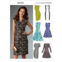 Vogue Ladies Easy Sewing Pattern 9050 Lined Dresses with Seam Details