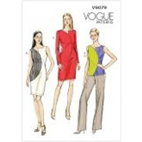 Vogue Ladies Easy Sewing Pattern 9079 Top, Dresses & Pants