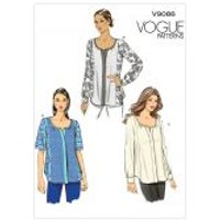 Vogue Ladies Easy Sewing Pattern 9086 Loose Fitting Tops