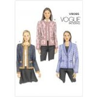 Vogue Ladies Easy Sewing Pattern 9095 Semi Fitted Lined Jackets