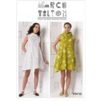 Vogue Ladies Easy Sewing Pattern 9112 Loose Fitting Dress with Pleated Collar