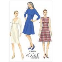 Vogue Ladies Easy Sewing Pattern 9125 Lined Dresses