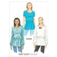 Vogue Ladies Easy Sewing Pattern 9129 Tunic Tops