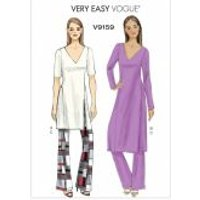Vogue Ladies Easy Sewing Pattern 9159 Tunic, Dress & Pants