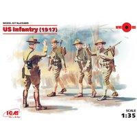 WWI US Infanterie, 4 Figuren