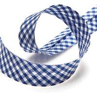 Schrägband Vichy - Marineblau