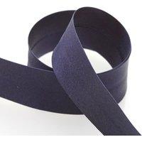 Satin-Schrägband, marineblau, 20 mm