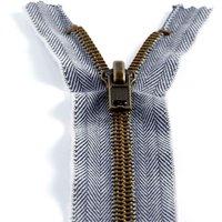 Nicht trennbarer Jeans-Verschluss 10 cm