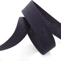 Band aus Baumwoll-Köperstoff - Marineblau