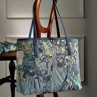 Irises Tapestry Handbag