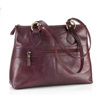 Clara Burgundy Leather Handbag