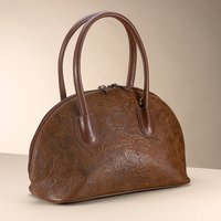 Arts & Crafts Embossed Leather Handbag