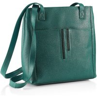 Jazz Age Teal Leather Handbag