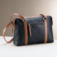 Fin de Siecle Navy Leather Handbag