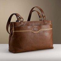 Jazz Age Cognac Leather Handbag