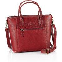 Audrey Red Leather Handbag