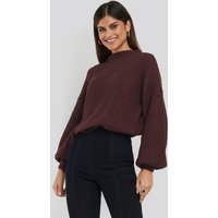 NA-KD Balloon Sleeve Knitted Sweater TEST - Red