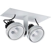 Modern Technical LED Recessed Ceiling White, Black, Warm