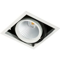 Modern Technical LED Recessed Ceiling White, Black, Cool