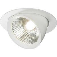 Round LED Recessed Adjustable Downlight, 230V 40W
