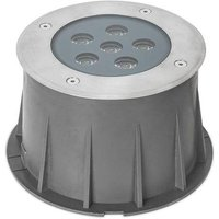 LED 6 Light Recessed Outdoor Ground Light Stainless Steel IP67