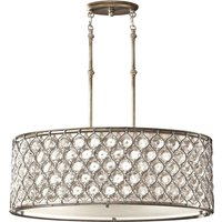 3 Light Ceiling Cylindrical Pendant Polished Silver, E27