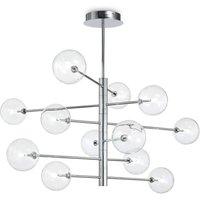 12 Light Multi Arm Ceiling Pendant Light Chrome