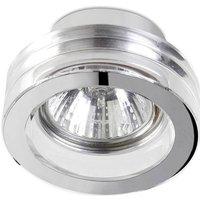 1 Light Small Round Bathroom Recessed Ceiling Light Chrome
