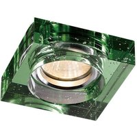 Bubble Recessed Downlight Square Rim Only Green, Requires