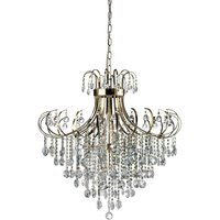 Ceiling Pendant 8 Light French Gold, Crystal