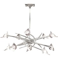 Ceiling Pendant Up-Down Round 10 Light G9, Polished Chrome