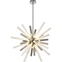 Ceiling Pendant 16 Light G9, Smoked and Frosted, Polished Ch